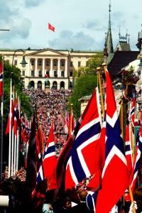 Norwegian flags