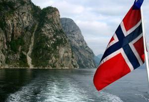 Single Norwegian flag